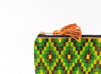 Green and yellow purse