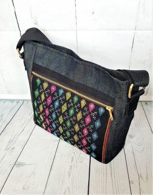 Crossbody bag handloom fabric bag