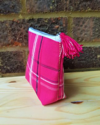 Small pink and silver purse
