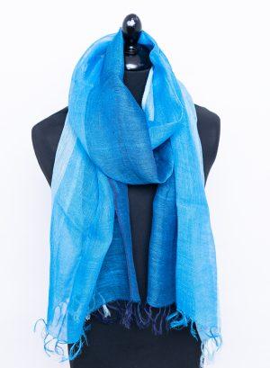 Blue linen in range of blue