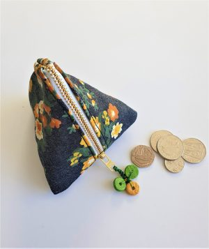 Floral printed small purse
