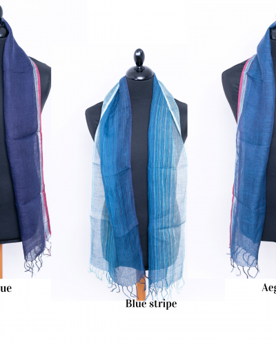 Skinny men's linen scarf