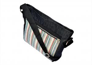 Crossbody bag white stripe