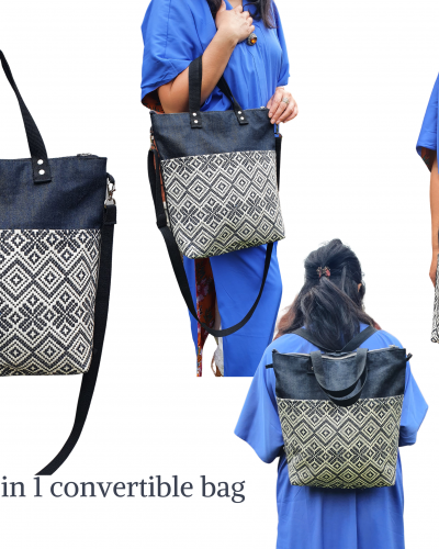 Convertible backpack bag