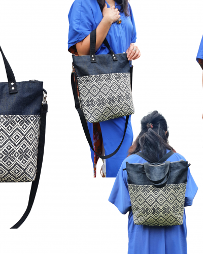 Convertible backpack crossbody bag