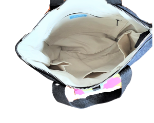 Convertible backpack inside